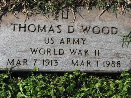 WOOD (VETERAN WWII), THOMAS D - Poinsett County, Arkansas   THOMAS D WOOD (VETERAN WWII) - Arkansas Gravestone Photos