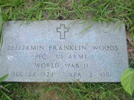 WOODS  (VETERAN WWII), BENJAMIN FRANKLIN - Poinsett County, Arkansas | BENJAMIN FRANKLIN WOODS  (VETERAN WWII) - Arkansas Gravestone Photos