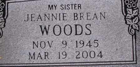 BREAN WOODS, JEANNIE - Poinsett County, Arkansas | JEANNIE BREAN WOODS - Arkansas Gravestone Photos