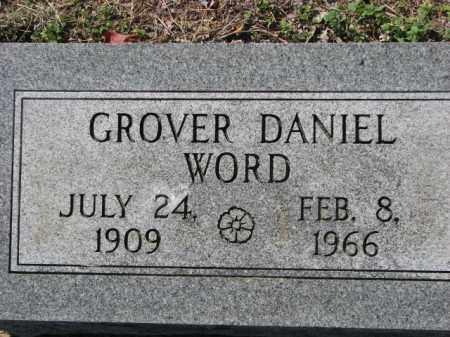 WORD, GROVER DANIEL - Poinsett County, Arkansas   GROVER DANIEL WORD - Arkansas Gravestone Photos