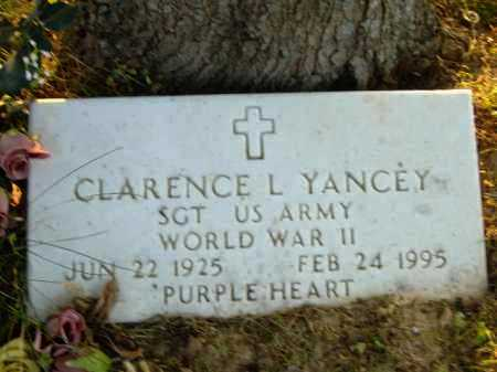 YANCEY  (VETERAN WWII), CLARENCE L - Poinsett County, Arkansas | CLARENCE L YANCEY  (VETERAN WWII) - Arkansas Gravestone Photos