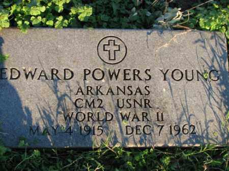 YOUNG (VETERAN WWII), EDWARD POWERS - Poinsett County, Arkansas | EDWARD POWERS YOUNG (VETERAN WWII) - Arkansas Gravestone Photos