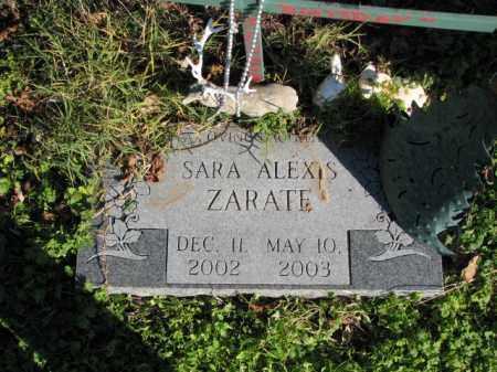 ZARATE, SARA ALEXIS - Poinsett County, Arkansas   SARA ALEXIS ZARATE - Arkansas Gravestone Photos