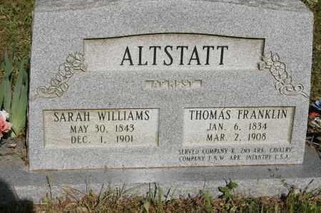 ALTSTATT  (VETERAN UNION), THOMAS FRANKLIN - Polk County, Arkansas | THOMAS FRANKLIN ALTSTATT  (VETERAN UNION) - Arkansas Gravestone Photos