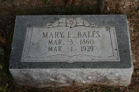 BALES, MARY L. - Polk County, Arkansas | MARY L. BALES - Arkansas Gravestone Photos