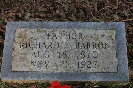 BARRON, RICHARD L. - Polk County, Arkansas   RICHARD L. BARRON - Arkansas Gravestone Photos