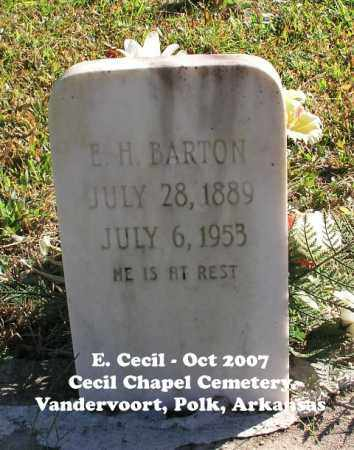 BARTON, E. H. - Polk County, Arkansas | E. H. BARTON - Arkansas Gravestone Photos