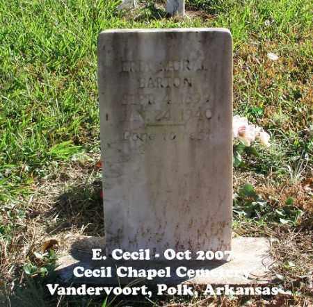 BARTON, ERIA MURAL - Polk County, Arkansas   ERIA MURAL BARTON - Arkansas Gravestone Photos