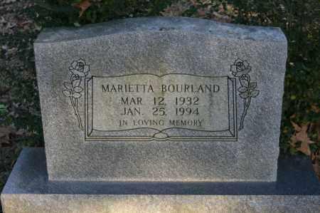 BOURLAND, MARIETTA - Polk County, Arkansas   MARIETTA BOURLAND - Arkansas Gravestone Photos