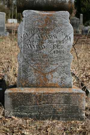 BROWN, MARY ANNIE - Polk County, Arkansas | MARY ANNIE BROWN - Arkansas Gravestone Photos