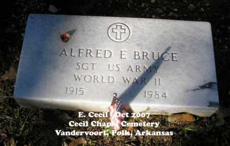 BRUCE (VETERAN WWII), ALFRED - Polk County, Arkansas   ALFRED BRUCE (VETERAN WWII) - Arkansas Gravestone Photos
