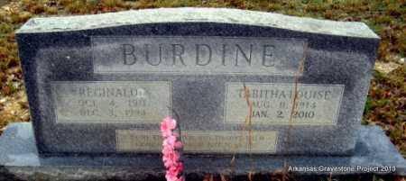 BURDINE, TABITHA LOUISE - Polk County, Arkansas   TABITHA LOUISE BURDINE - Arkansas Gravestone Photos