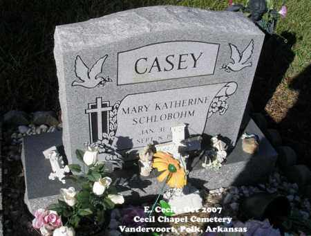 CASEY, MARY KATHERINE - Polk County, Arkansas   MARY KATHERINE CASEY - Arkansas Gravestone Photos
