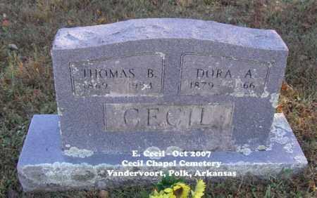 CECIL, THOMAS BENTON - Polk County, Arkansas | THOMAS BENTON CECIL - Arkansas Gravestone Photos