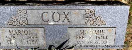 COX, MAMMIE - Polk County, Arkansas   MAMMIE COX - Arkansas Gravestone Photos