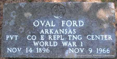 FORD (VETERAN WWI), OVAL - Polk County, Arkansas | OVAL FORD (VETERAN WWI) - Arkansas Gravestone Photos