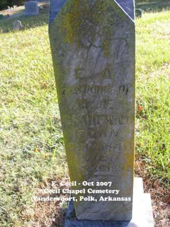 CRANFIELD, F. A. - Polk County, Arkansas | F. A. CRANFIELD - Arkansas Gravestone Photos