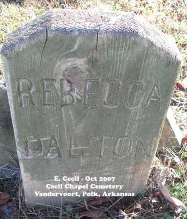DALTON, REBECCA ANNA - Polk County, Arkansas | REBECCA ANNA DALTON - Arkansas Gravestone Photos
