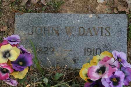 DAVIS, JOHN W. - Polk County, Arkansas   JOHN W. DAVIS - Arkansas Gravestone Photos