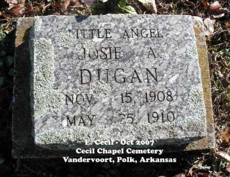 DUGAN, JOSIE A. - Polk County, Arkansas   JOSIE A. DUGAN - Arkansas Gravestone Photos