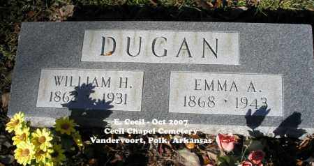 CECIL DUGAN, EMMA A. - Polk County, Arkansas | EMMA A. CECIL DUGAN - Arkansas Gravestone Photos