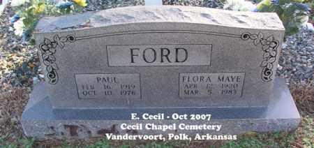 FORD, FLORA MAYE - Polk County, Arkansas   FLORA MAYE FORD - Arkansas Gravestone Photos