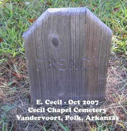 FRENCE, UNKNOWN - Polk County, Arkansas   UNKNOWN FRENCE - Arkansas Gravestone Photos