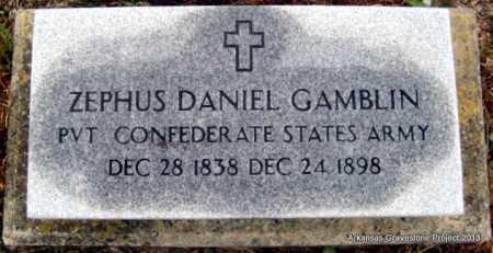 GAMBLIN (VETERAN CSA), ZEPHUS DANIEL - Polk County, Arkansas   ZEPHUS DANIEL GAMBLIN (VETERAN CSA) - Arkansas Gravestone Photos