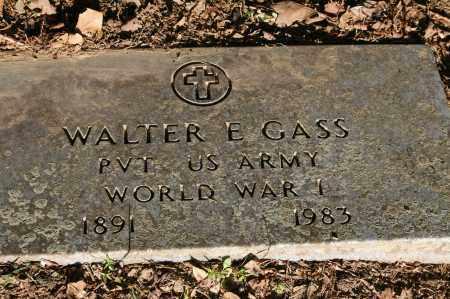 GASS  (VETERAN WWI), WALTER EUGENE - Polk County, Arkansas | WALTER EUGENE GASS  (VETERAN WWI) - Arkansas Gravestone Photos