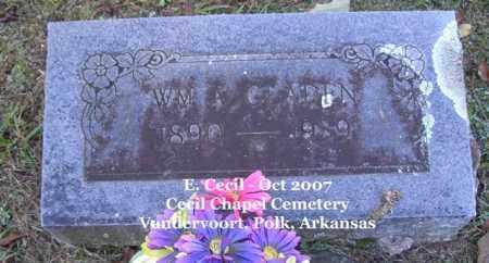 GLADEN, WM. A. - Polk County, Arkansas   WM. A. GLADEN - Arkansas Gravestone Photos