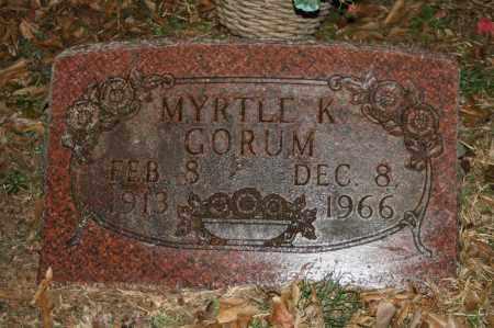 REED GORUM, MYRTLE K. - Polk County, Arkansas | MYRTLE K. REED GORUM - Arkansas Gravestone Photos