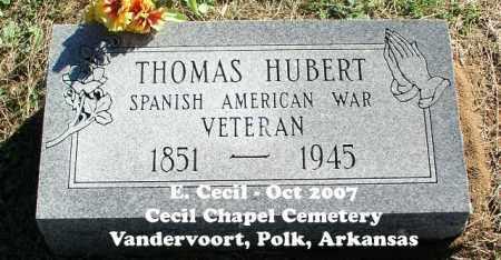 HUBERT (VETERAN SAW), THOMAS - Polk County, Arkansas | THOMAS HUBERT (VETERAN SAW) - Arkansas Gravestone Photos