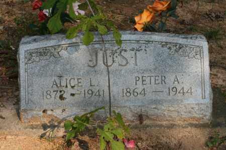 JUST, PETER A. - Polk County, Arkansas | PETER A. JUST - Arkansas Gravestone Photos