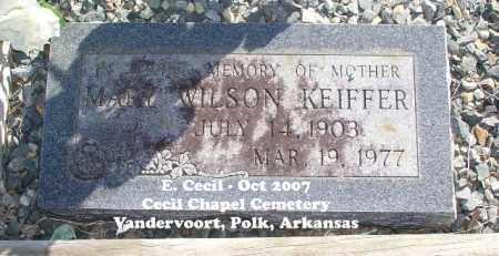 WILSON KEIFFER, MARY - Polk County, Arkansas   MARY WILSON KEIFFER - Arkansas Gravestone Photos