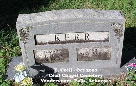 WEBB KERR, SARAH E. - Polk County, Arkansas | SARAH E. WEBB KERR - Arkansas Gravestone Photos