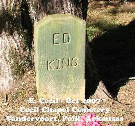 KING, ED - Polk County, Arkansas | ED KING - Arkansas Gravestone Photos