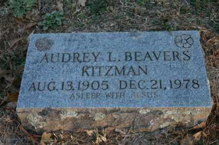 KITZMAN, AUDREY L. WHISENHUNT BEAVER - Polk County, Arkansas | AUDREY L. WHISENHUNT BEAVER KITZMAN - Arkansas Gravestone Photos