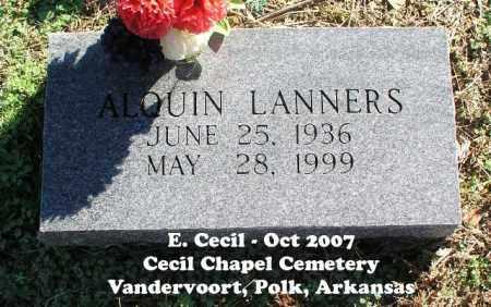 LANNERS, ALQUIN - Polk County, Arkansas | ALQUIN LANNERS - Arkansas Gravestone Photos