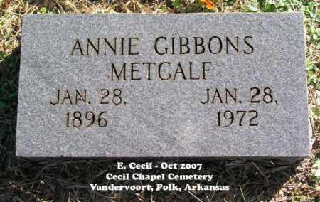 GIBBONS METCALF, ANNIE - Polk County, Arkansas | ANNIE GIBBONS METCALF - Arkansas Gravestone Photos