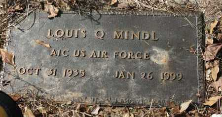 MINDL (VETERAN), LOUIS Q - Polk County, Arkansas   LOUIS Q MINDL (VETERAN) - Arkansas Gravestone Photos