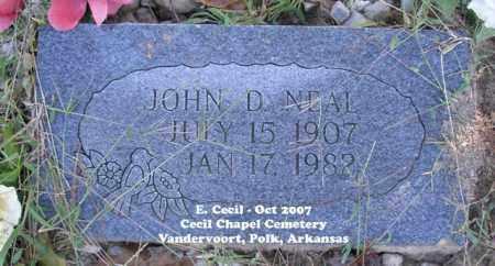NEAL, JOHN D. - Polk County, Arkansas   JOHN D. NEAL - Arkansas Gravestone Photos