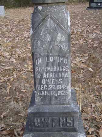 WHITE OWENS, ANGELANA - Polk County, Arkansas   ANGELANA WHITE OWENS - Arkansas Gravestone Photos