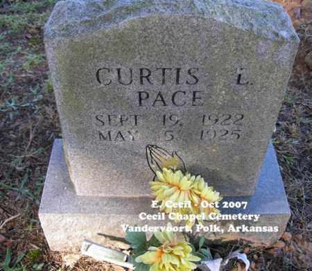 PACE, CURTIS L. - Polk County, Arkansas | CURTIS L. PACE - Arkansas Gravestone Photos