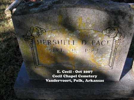 PACE, HERSHELL D. - Polk County, Arkansas | HERSHELL D. PACE - Arkansas Gravestone Photos