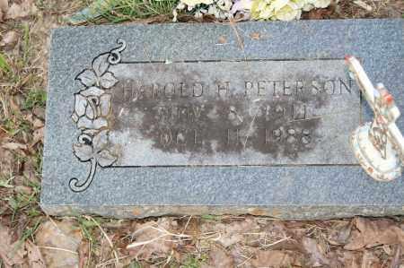 PETERSON, HAROLD H. - Polk County, Arkansas | HAROLD H. PETERSON - Arkansas Gravestone Photos