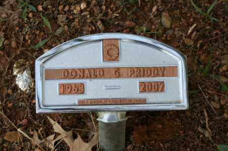 PRIDDY, DONALD G. - Polk County, Arkansas   DONALD G. PRIDDY - Arkansas Gravestone Photos