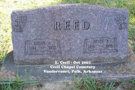 REED, GLENN A. - Polk County, Arkansas   GLENN A. REED - Arkansas Gravestone Photos