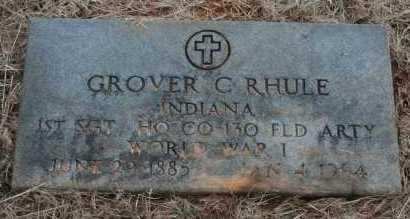 RHULE (VETERAN WWI), GROVER C - Polk County, Arkansas | GROVER C RHULE (VETERAN WWI) - Arkansas Gravestone Photos