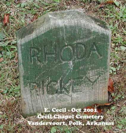 CECIL RICKEY, RHODA - Polk County, Arkansas | RHODA CECIL RICKEY - Arkansas Gravestone Photos