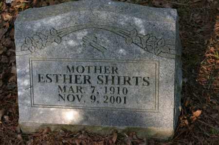 SHIRTS, ESTHER - Polk County, Arkansas | ESTHER SHIRTS - Arkansas Gravestone Photos